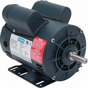 Leeson Air Compressor Electric Motor  U2014 5spl Hp  Model