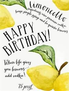 Happy Birthday ... Limoncello Quotes