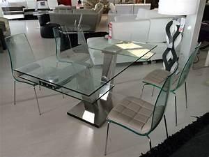 Table Verre Extensible : table design extensible verre ~ Teatrodelosmanantiales.com Idées de Décoration