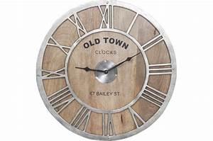 Horloge Murale Bois : horloge murale bois old town horloge design pas cher ~ Teatrodelosmanantiales.com Idées de Décoration