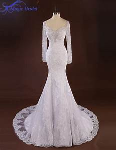 Aliexpresscom buy romantic white long sleeve lace for Wedding dresses delaware