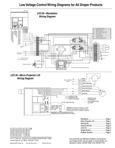 Low Voltage Wiring Diagram by Low Voltage Wiring Diagrams For All Draper Products