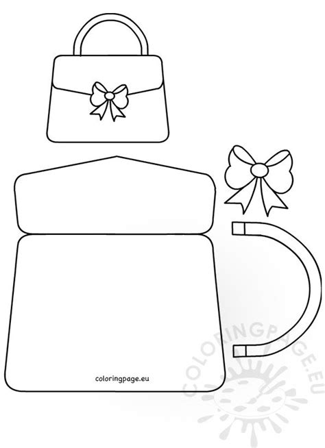 handbag card template mothers day craft coloring page
