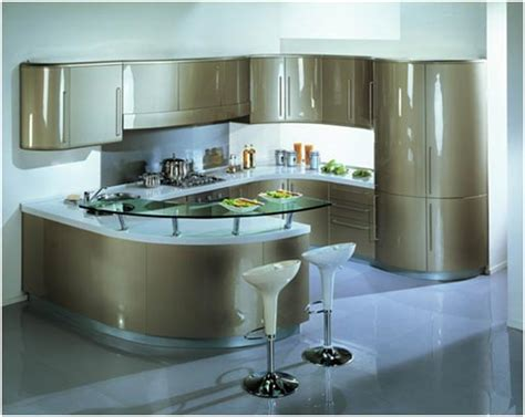 curved kitchen island designs موديلات مبهرة للمطابخ المقوسة المرسال 6331