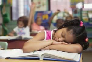 Tired of School Kid Sleeping