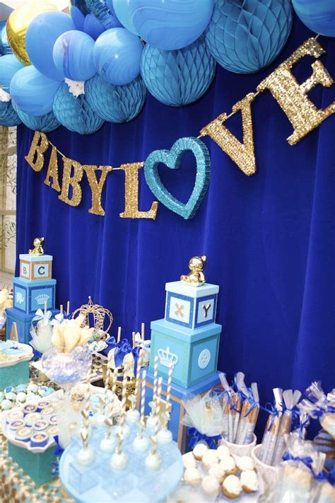 blue baby shower royal blue prince baby shower table projects to try