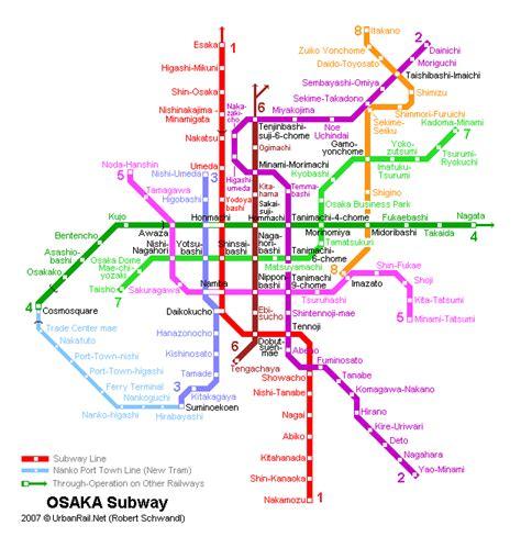 location chambre a osaka carte du métro carte détaillée du métropolitain