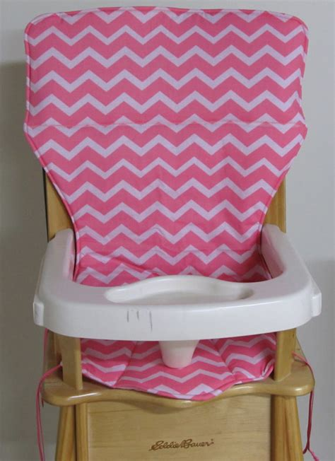 eddie bauer high chair pad replacement cover zigzag coral