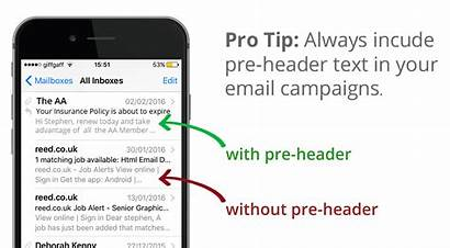 Email Marketing Campaign Mobile Header Pre Using