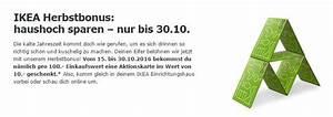 Ikea Verkaufsoffener Sonntag 2016 : ikea herbstbonus 10 aktionskarte je 100 einkaufswert ~ Buech-reservation.com Haus und Dekorationen