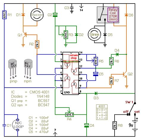 Electronic Circuit Schematic Battery