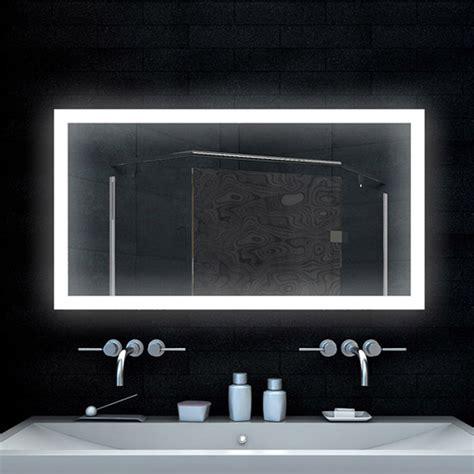 badezimmerspiegel mit led badezimmerspiegel design spiegel lichtspiegel mit led beleuchtung 120x65 cm ebay