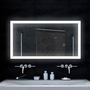 Spiegel Mit Beleuchtung Günstig : badezimmerspiegel design spiegel lichtspiegel mit led beleuchtung 120x65 cm ebay ~ Eleganceandgraceweddings.com Haus und Dekorationen
