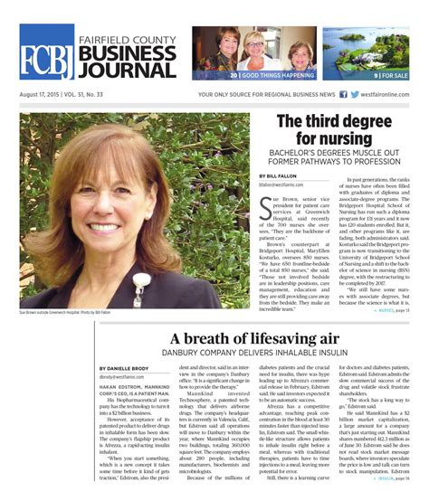 Fairfield County Business Journal 081715 by Wag Magazine