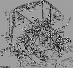 Wiring Harness  Cab   Aqt   European Version   7710  7810  - Tractor John Deere 7810