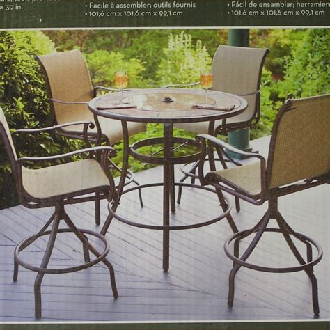 outdoor patio table and chairs outdoor furniture high top tables