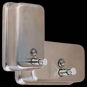 Wall Mounted Soap Dispensers  Manual Or Sensor Type Models