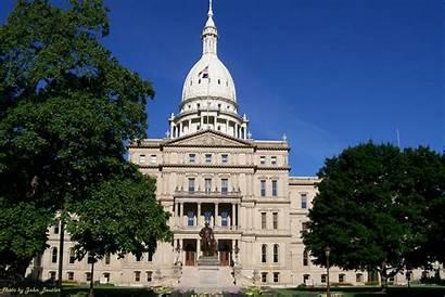Michigan Capitol State Senate Winter Under Gov