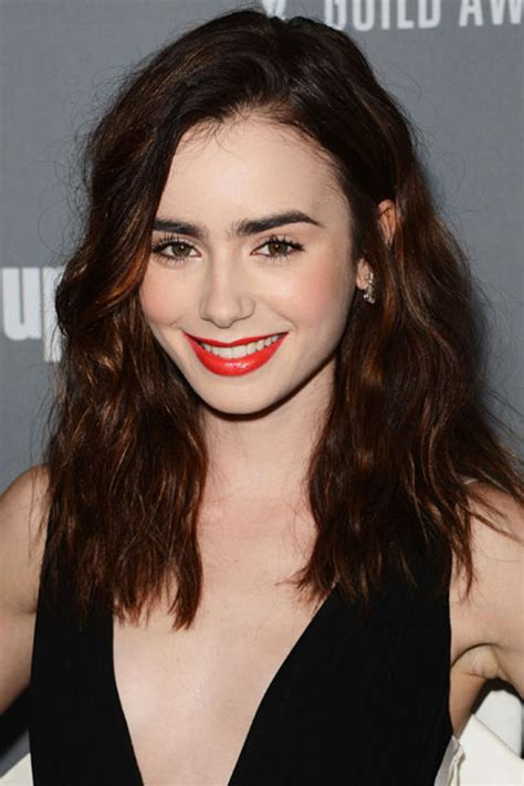 Lily Collinss Best Red Carpet Hair And Makeup Looks