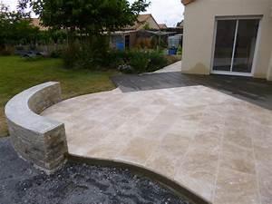 Terrasse Avec Muret : emma nature paysagiste paysagiste saint macaire en ~ Premium-room.com Idées de Décoration