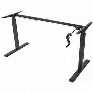 Order Vivo Black Manual Height Adjustable Stand Up Desk