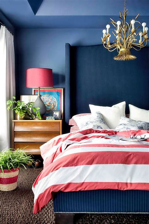 chic ways  decorate  red white  blue love