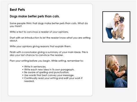 persuasive dogs cats better than pets text naplan studyladder animals worksheets resource printable
