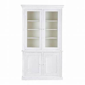 buffet vaisselier blanc maison design wibliacom With meuble style maison du monde 6 buffet vaisselier luberon 4 portes 4 tiroirs