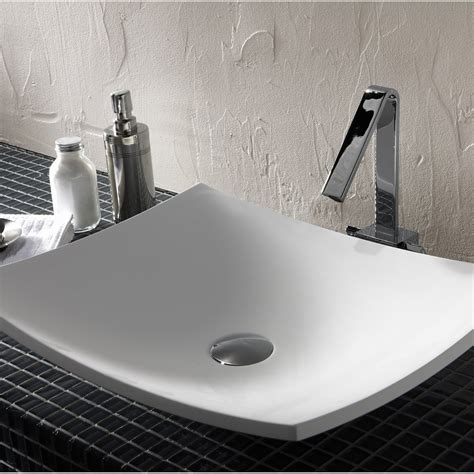 vasque 224 poser r 233 sine de synth 232 se l 50 x p 40 cm blanc natura leroy merlin