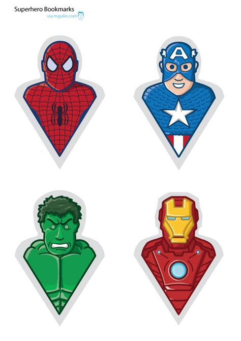 marvel printable bookmarks printable  degree