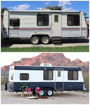 camper makeover   repaint  camper  rv camping remodeled campers camper makeover