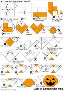 Origami Jack O U0026 39  Lantern With Wing Instructions