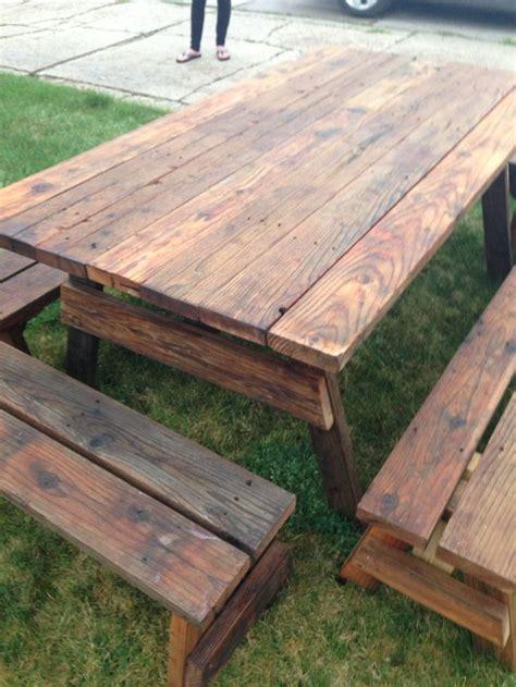 Best 25+ Outdoor Picnic Tables Ideas On Pinterest Diy
