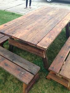 25 best ideas about outdoor picnic tables on pinterest With barn wood patio table