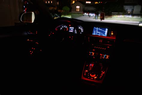 A4 Audi Interior at Night, 2008 q7 - JohnyWheels