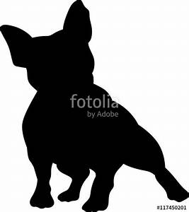 """""""French bulldog vector silhouette"""" Stock image and royalty ..."""