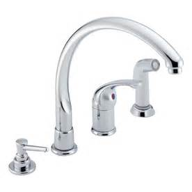 waterfall kitchen faucet shop delta waterfall chrome high arc kitchen faucet with side spray at lowes