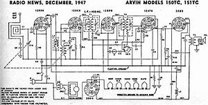 Arvin Models 150tc  151tc Schematic  U0026 Parts List  December