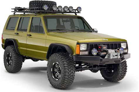jeep cherokee xj grey bushwacker 10922 07 flat style flares for 84 01 jeep