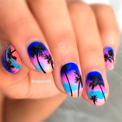 tropical nail designs fresh tropical nails come out to play naildesignsjournal