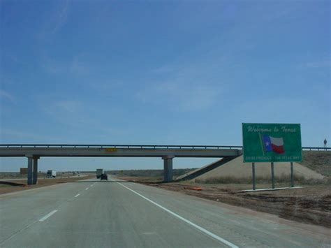 40 texas interstate welcome interstates sign state okroads highways relatively areas far few between