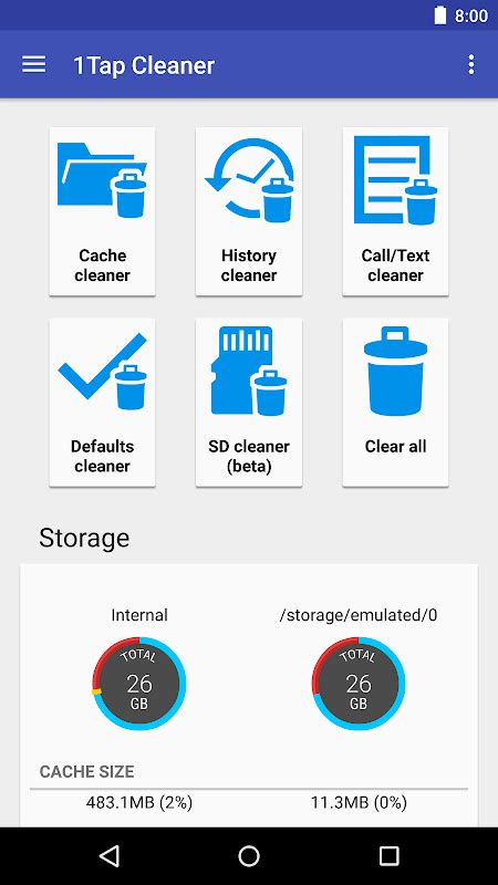 1tap cleaner usages moddroid