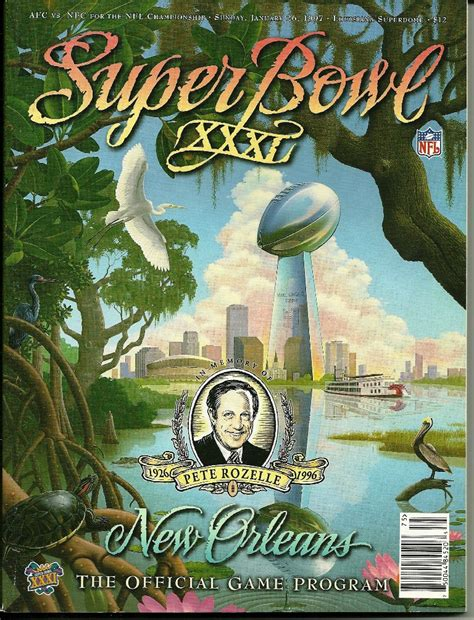 Super Bowl Xxxl Program New Orleans Green Bay Packers New