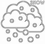 Snow Coloring Pages Cloud Print sketch template