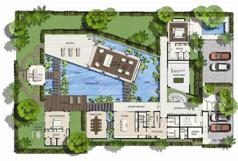saisawan beach villas type ground floor plan home plans