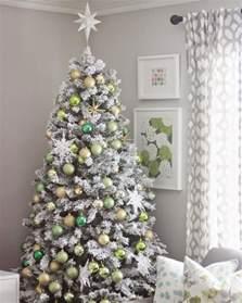 flocked trees happy holidays
