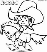 Rodeo Coloring Pages Rodeo1 sketch template
