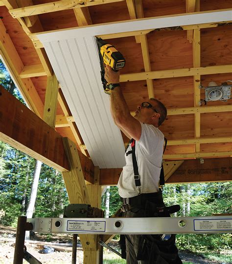 install  beadboard porch ceiling extreme