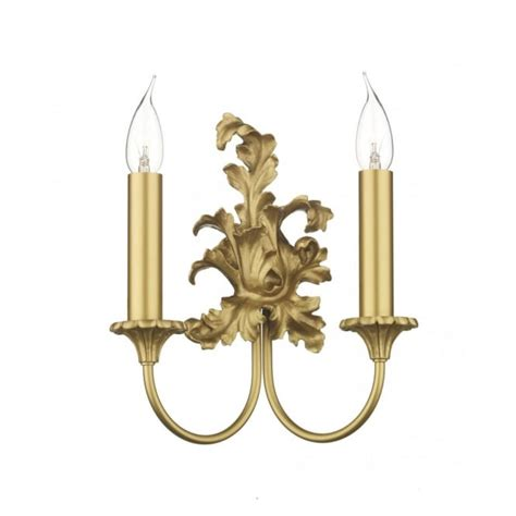 ormolu leaf design double gold wall light