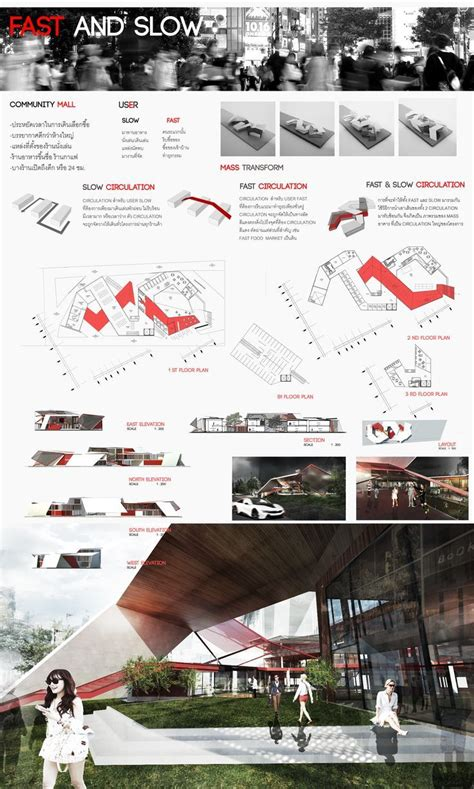 community mall design project in faculty of architecture kmitl thailand plate concept